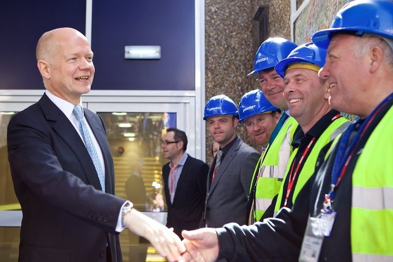 Deanes School project is officially opened by leader of the Commons William Hague
