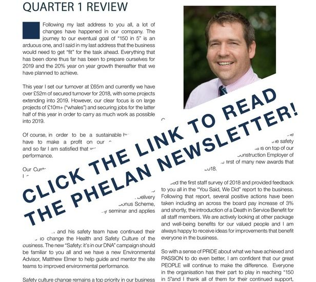 Phelanews – Phelan's Quarterly Newsletter (Q1 2018)