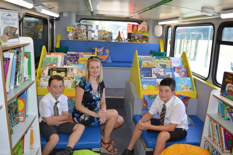 Phelan School Library Bus