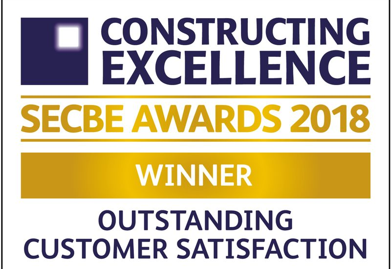 Phelan wins the Outstanding Customer Satisfaction Award at the Constructing Excellence SECBE Awards 2018