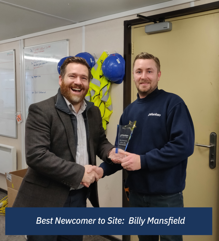Best Newcomer to Site: Billy Mansfield