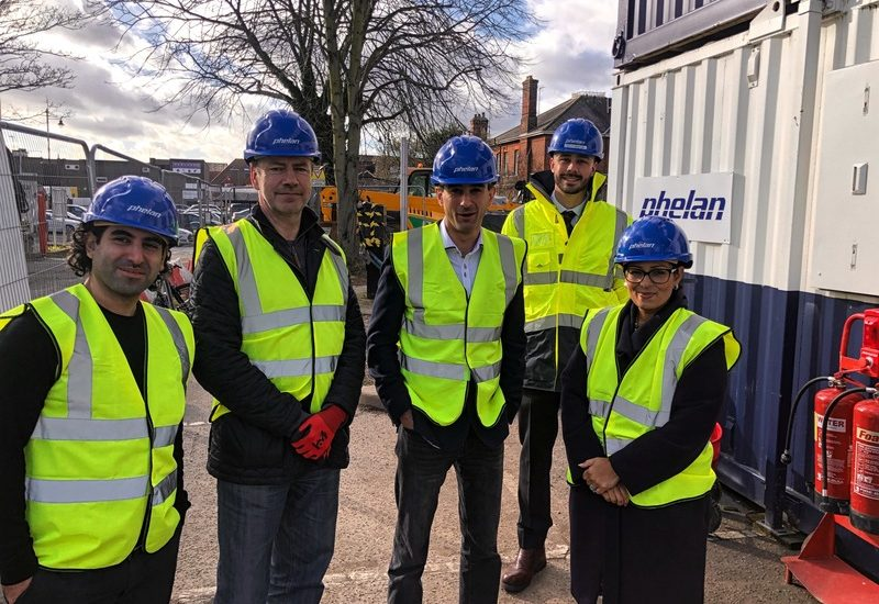 MP Priti Patel visits the Lime Tree Place development in Witham