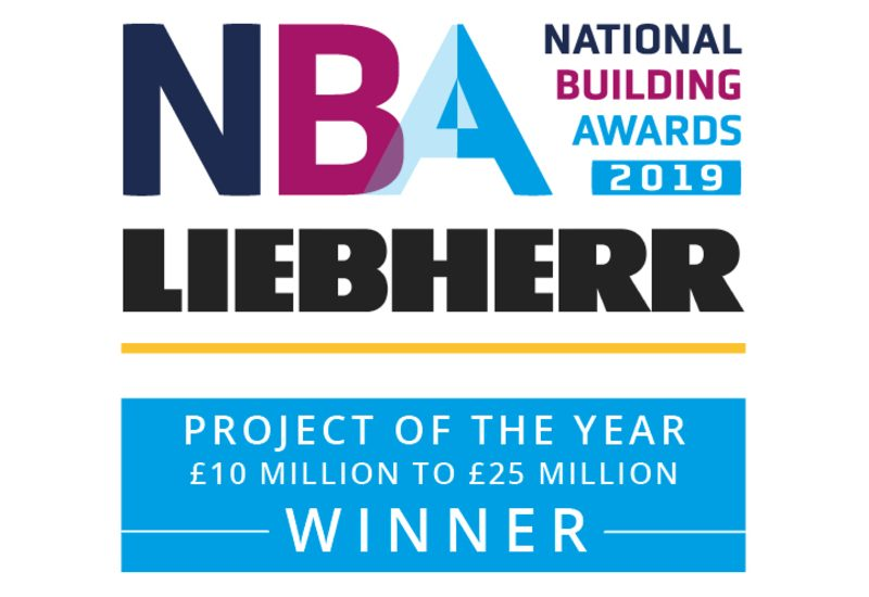 "Phelan scoops ""Project of the year (£10-£25m)"" at the National Building Awards at Wembley Stadium"