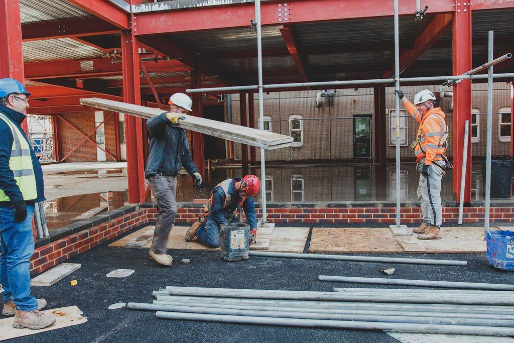 Manningtree High School, LIVE Construction site
